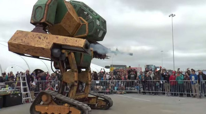 battle between mechs megabot
